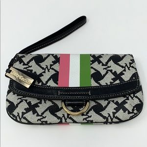 Juicy Couture Wristlet Pink/White/Green Striped